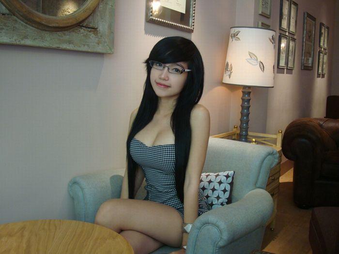 Asian Girl Glasses