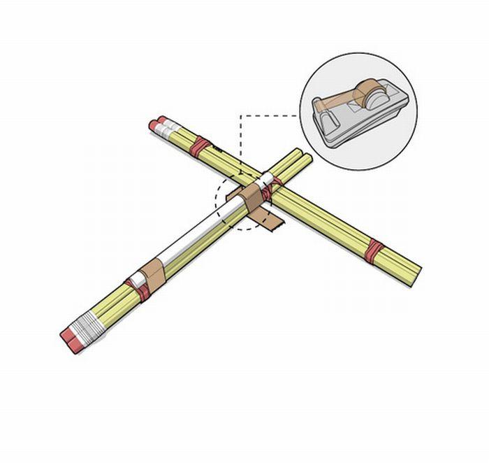 Как сделать арбалет из карандашей своими руками 51