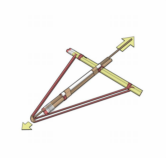 Whatever. - How to build a pencil crossbow: FromJohn.
