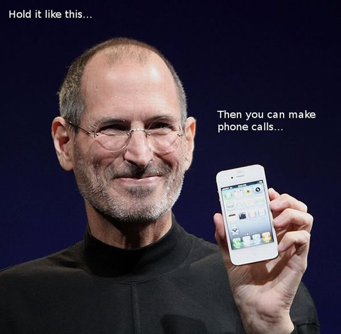 iphone 4 01 Guide to Holding iPhone4 ... funny images