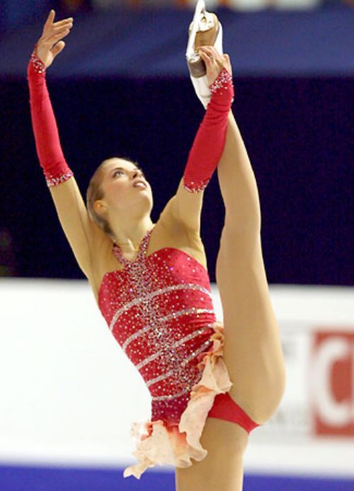 Nude gymnastic and figure skaters